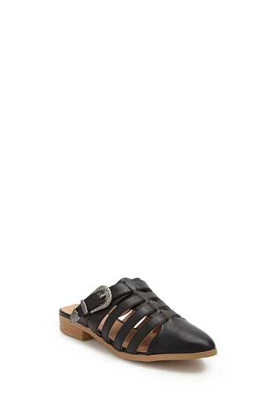 Forever 21 Qupid Faux Leather Buckle Caged Mules