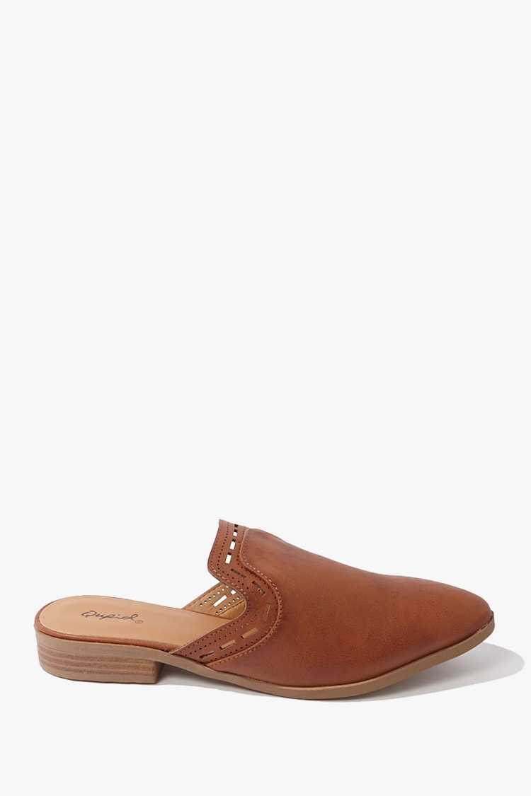 Forever 21 Qupid Faux Leather Cutout Mules