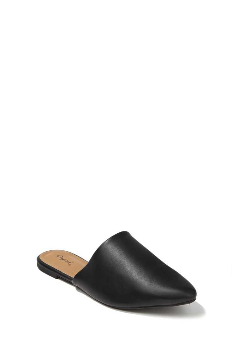 Forever 21 Qupid Faux Leather Pointed Mules