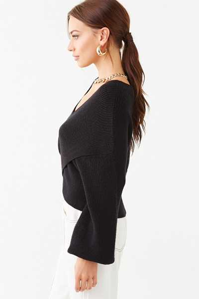 Forever 21 Ribbed Crisscross-Front Sweater