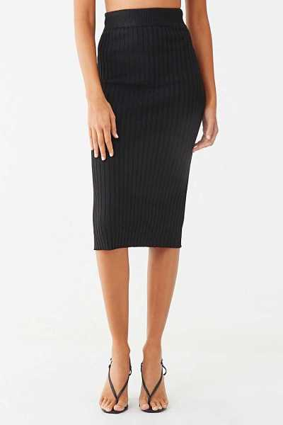 Forever 21 Ribbed Knee-Length Skirt