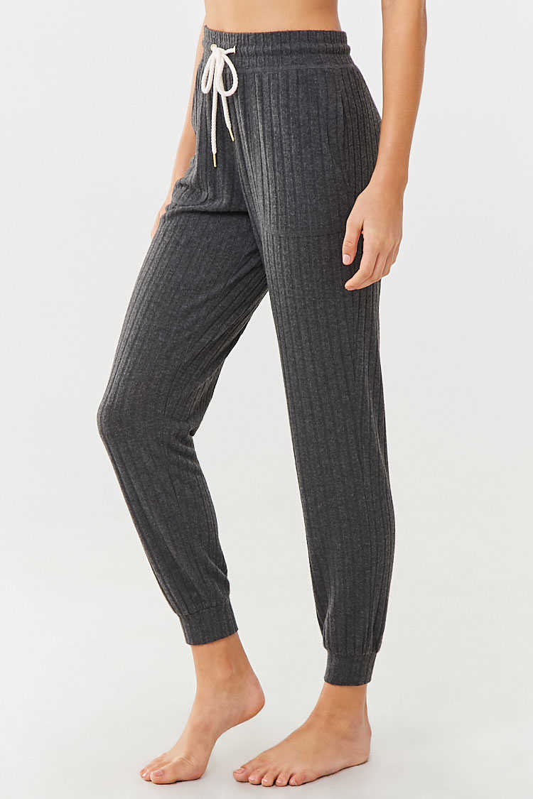 Forever 21 Ribbed Knit Lounge Joggers