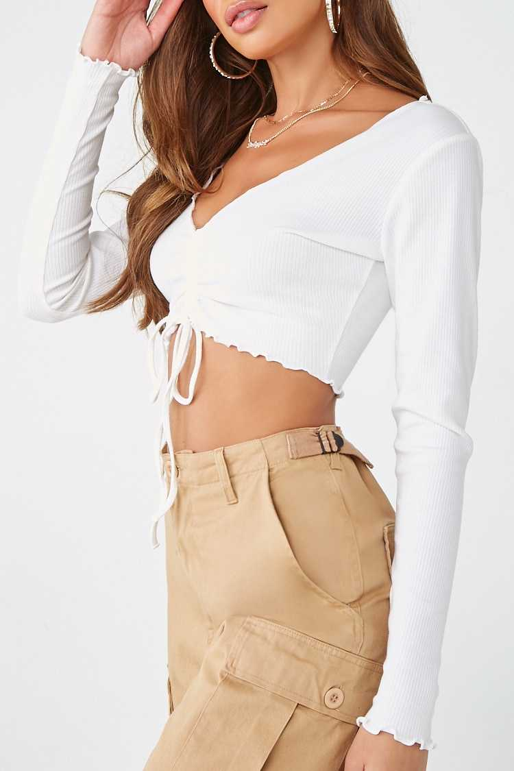 Forever 21 Ruched Crop Top