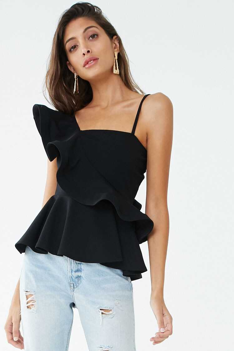 Forever 21 Ruffled Flounce Top