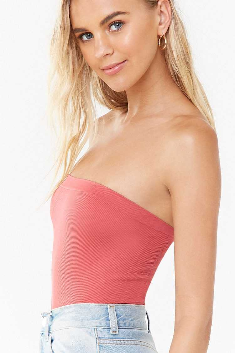 Forever 21 Seamless Tube Thong Bodysuit