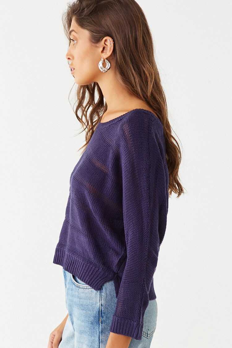 Forever 21 Shadow Striped Knit Top