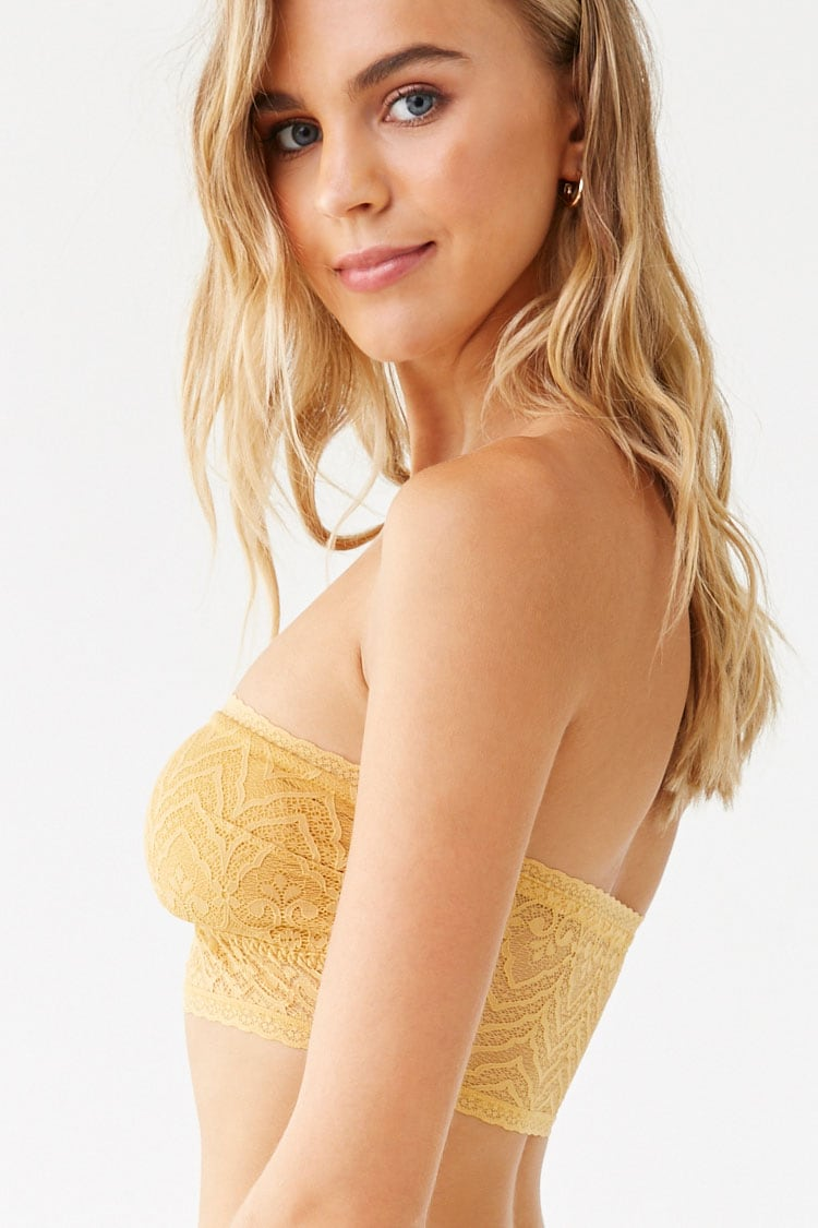 Forever 21 Sheer Lace Bandeau