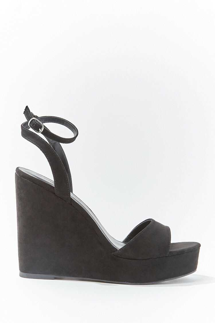 Forever 21 Single-Strap Faux Suede Wedges
