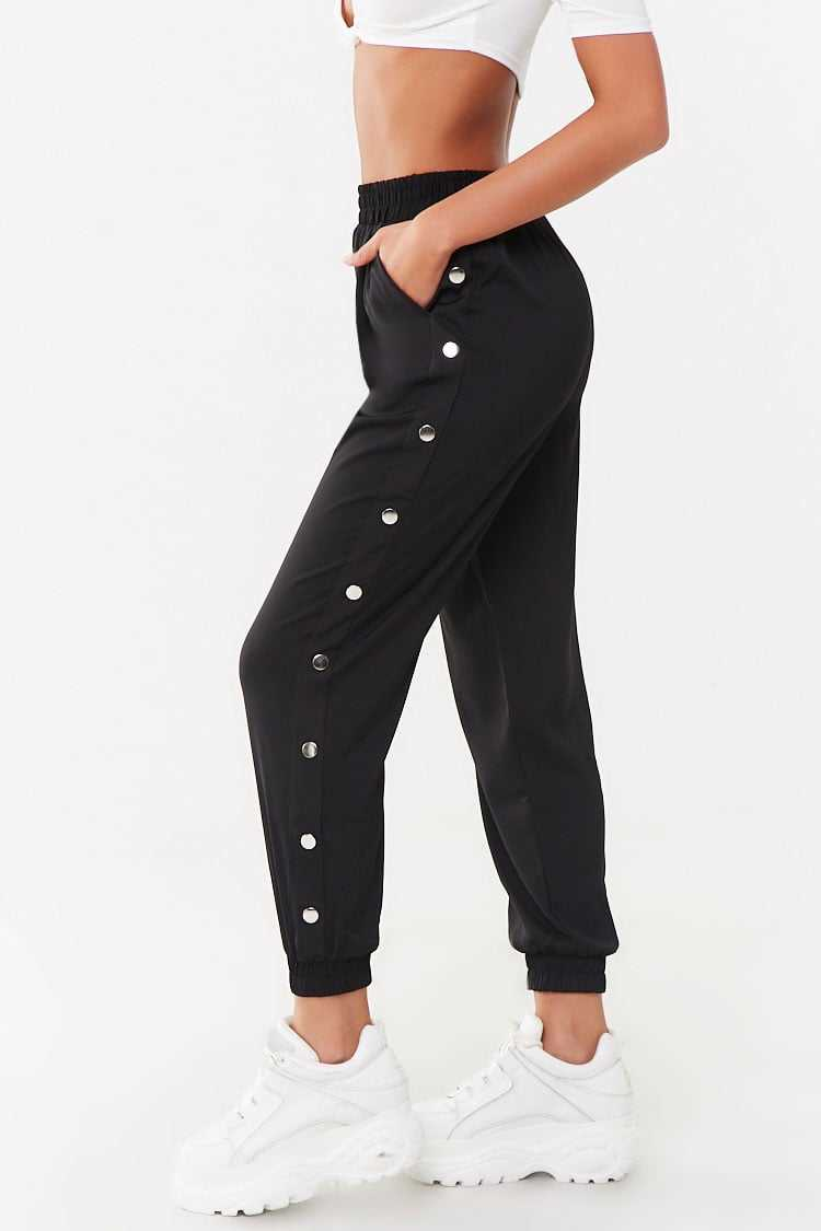 Forever 21 Snap-Button Elasticized Joggers