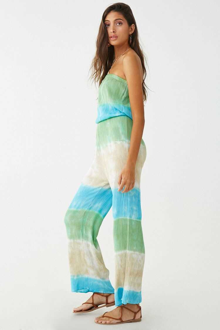 Forever 21 Strapless Colorblock Jumpsuit