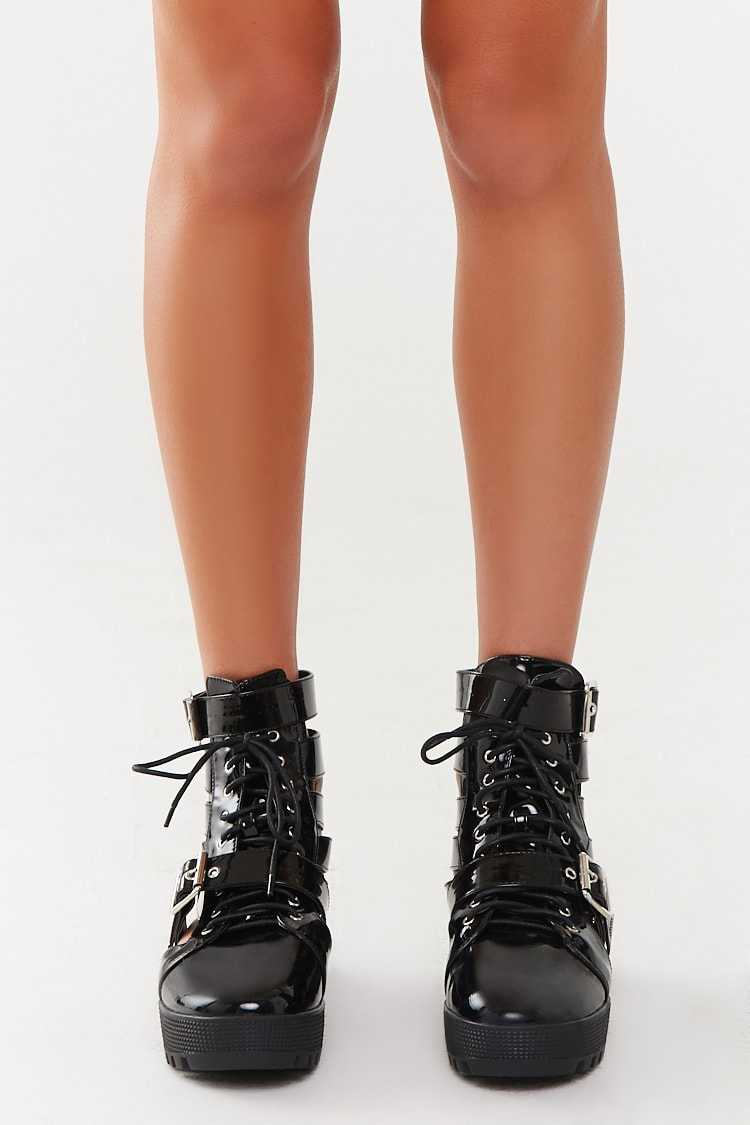 Forever 21 Strappy Combat Boots