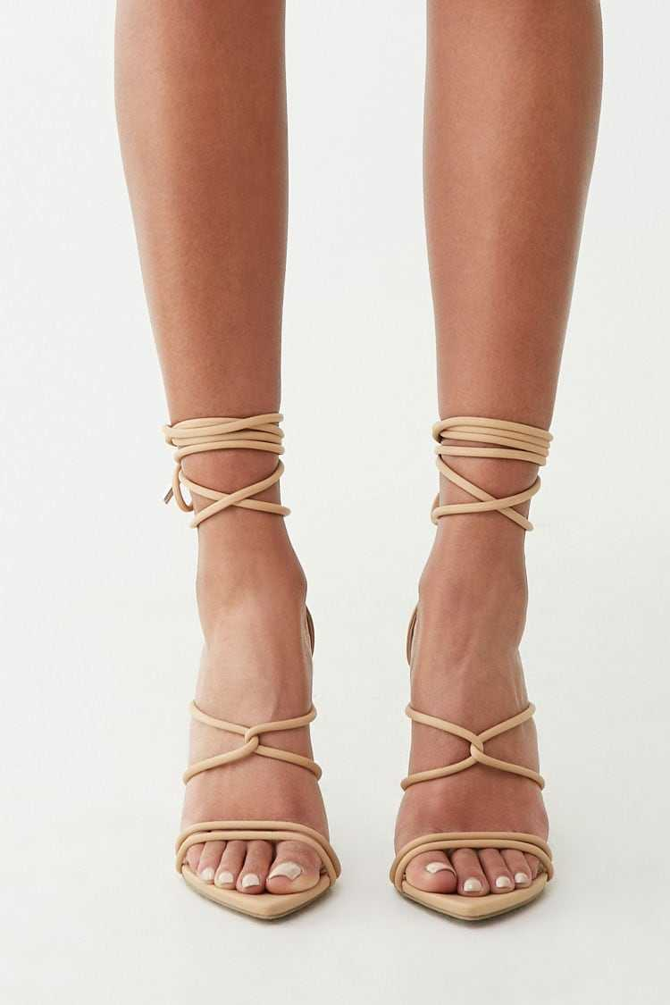 Forever 21 Strappy Lace-Up Heels
