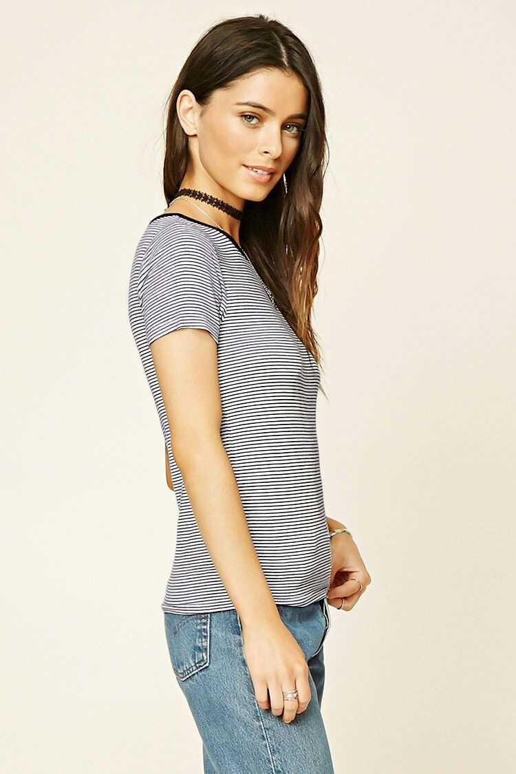 Forever 21 Striped Knit Tee