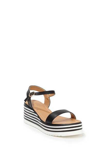 Forever 21 Striped Trim Wedges