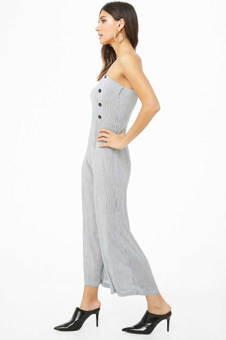 Forever 21 Striped Wide-Leg Jumpsuit