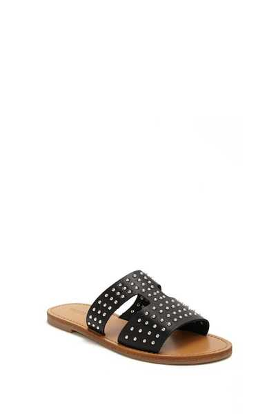 Forever 21 Studded Faux Leather Cutout Slides