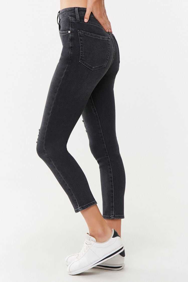 Forever 21 The Westwood Distressed Ankle Mom Jeans
