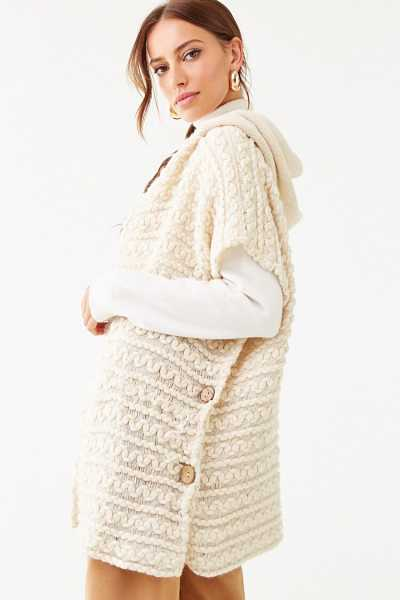 Forever 21 Threaded Purl-Knit Cardigan