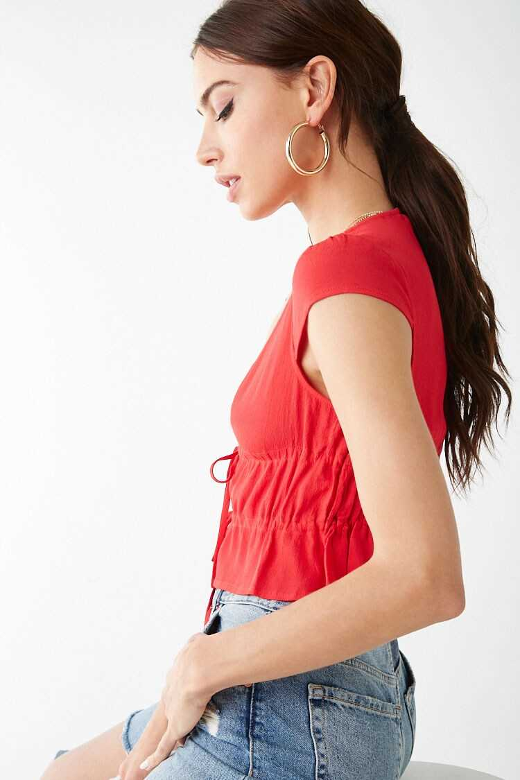 Forever 21 Tie-Front Top