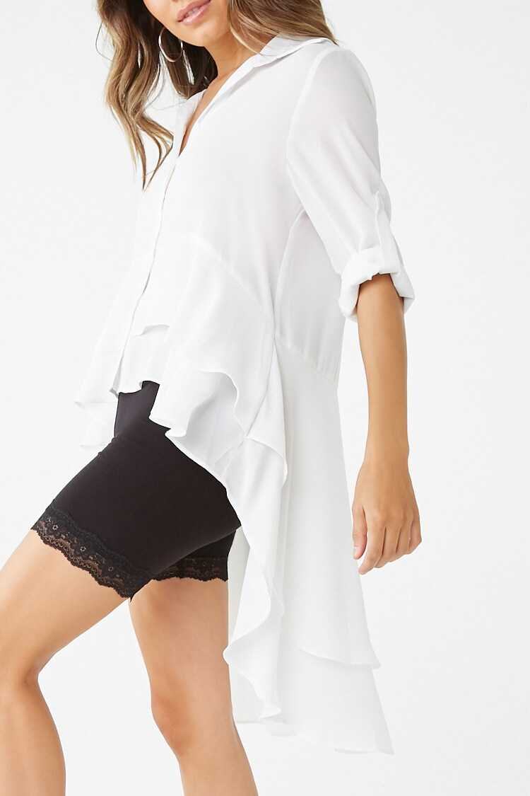 Forever 21 Tiered-Hem High-Low Shirt
