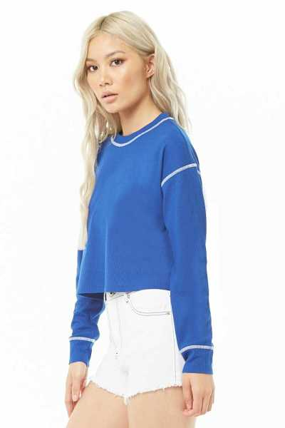Forever 21 Topstitched Waffle Knit Top