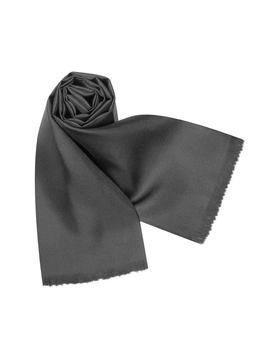 Forzieri  Men's Scarves Solid Silk Scarf Black USA - GOOFASH - Mens SCARFS