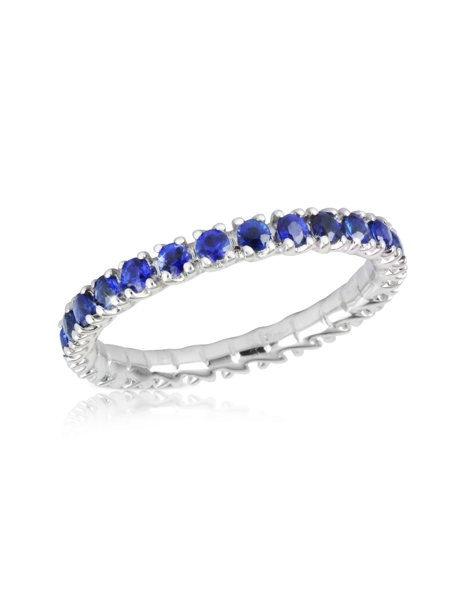 Forzieri  Rings Blue Sapphires 18K Gold Eternity Band Gold USA - GOOFASH - Womens JEWELRY