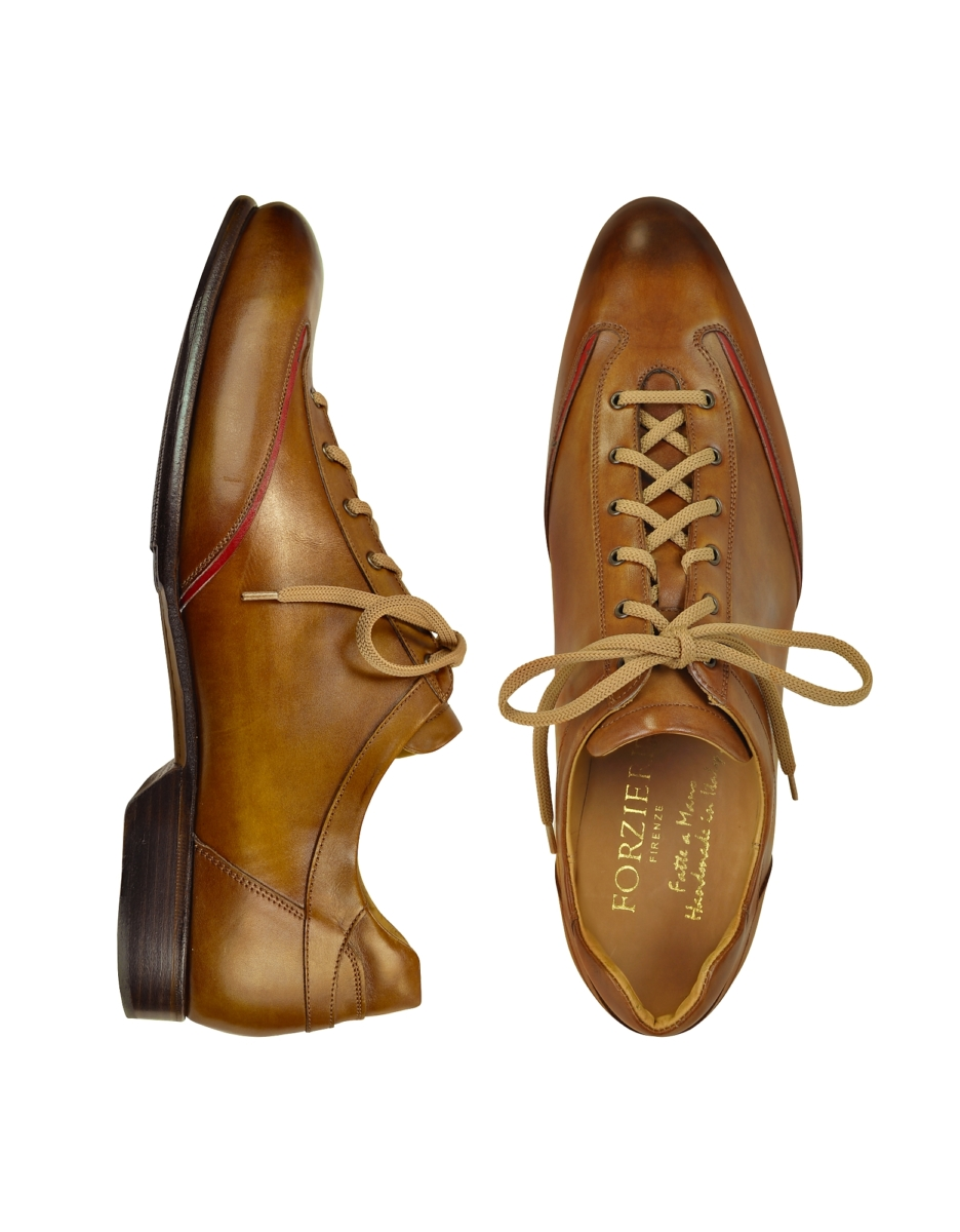Forzieri  Shoes Men's Brown Handmade Italian Leather Lace-up Shoes Brown USA - GOOFASH - Mens FORMAL SHOES