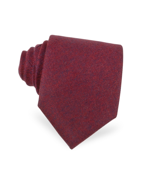 Forzieri  Ties Red and Blue Textured Cashmere Tie Red USA - GOOFASH - Mens NECKTIES
