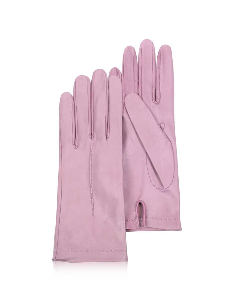 Forzieri  Women's Gloves Women's Candy Pink Unlined Italian Leather Gloves Pink USA - GOOFASH - Womens GLOVES