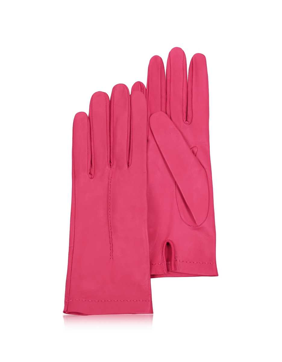 Forzieri  Women's Gloves Women's Hot Pink Unlined Italian Leather Gloves Hot Pink USA - GOOFASH - Womens GLOVES