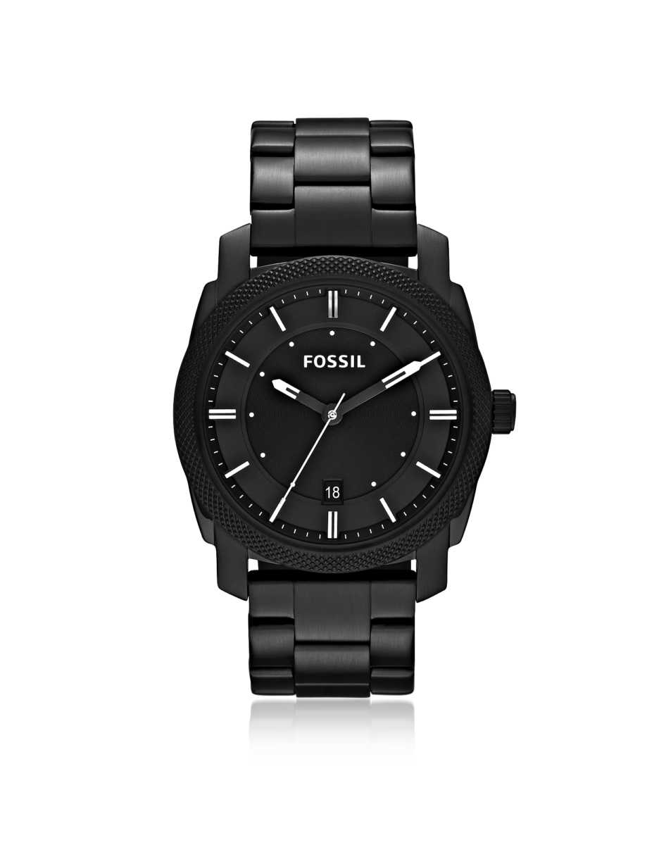 Fossil  Men's Watches Machine Black Stainless Steel Men's Watch Black USA - GOOFASH - Mens WATCHES