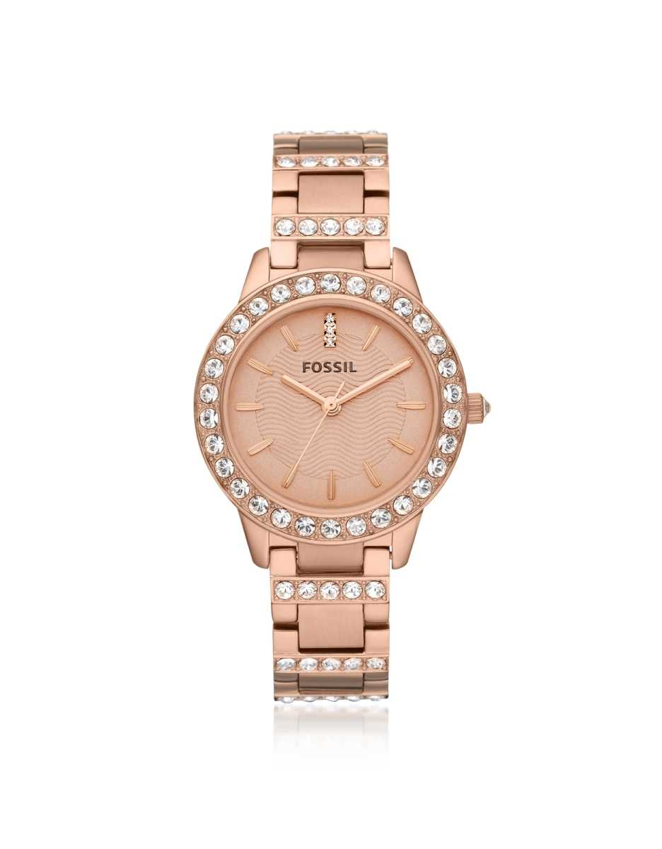 Fossil  Women's Watches Jesse Rose Tone Women's Watch Rose Gold USA - GOOFASH - Womens WATCHES