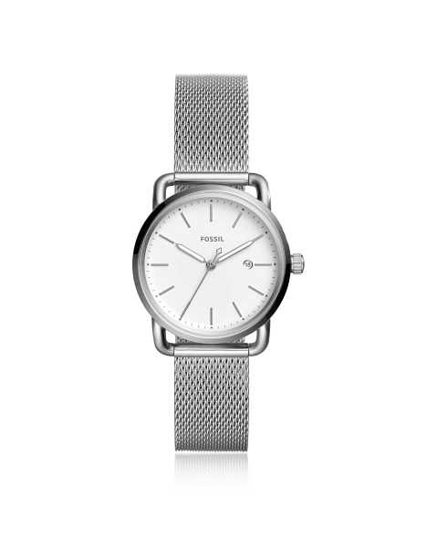 Fossil Women's Watches The Commuter Three Hand Date Women's Watch Silver USA - GOOFASH - Womens WATCHES