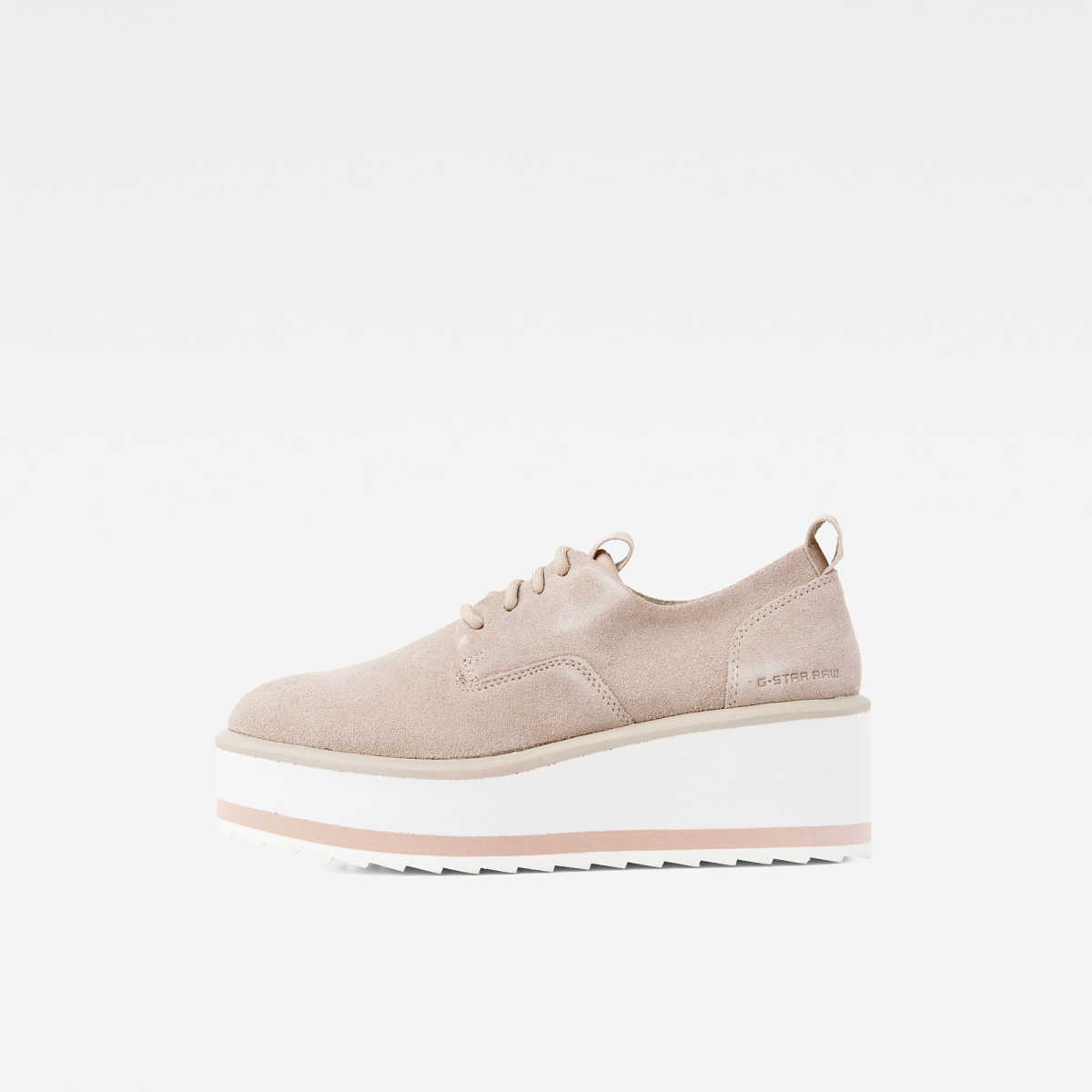 G-Star Female Strett Flatform Derby Shoes Grey USA - GOOFASH - Womens FLAT SHOES