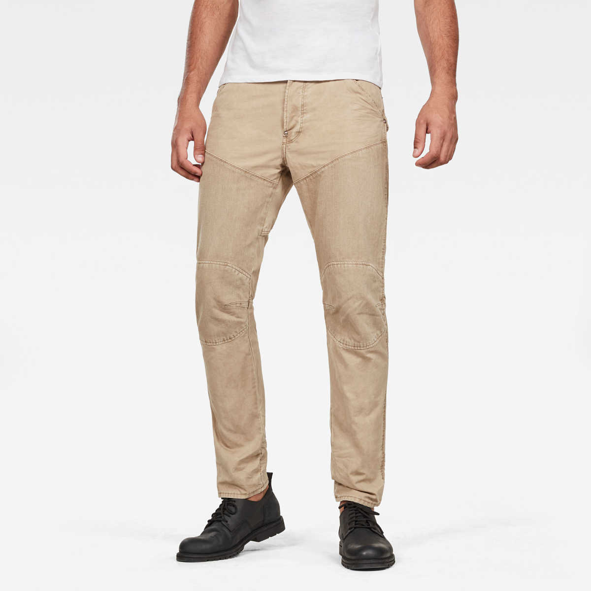 G-Star Male 5620 Straight Tapered Jeans Tapered Beige USA - GOOFASH - Mens JEANS