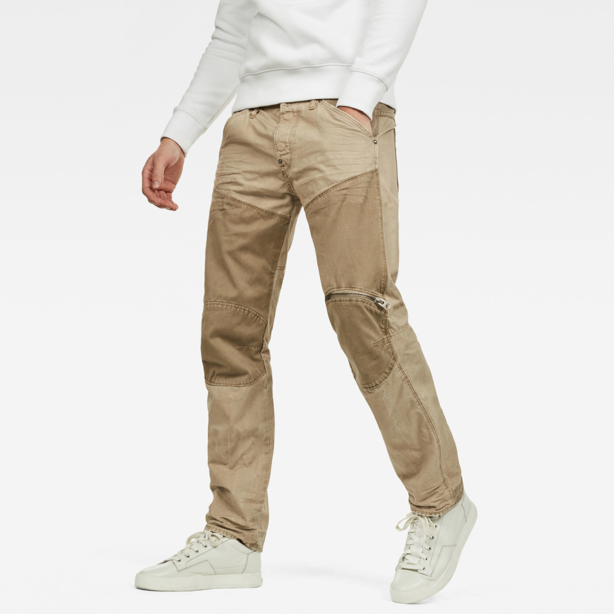 G-Star Male 5620 Workwear 3d Straight Trousers Pants Straight Beige USA - GOOFASH - Mens TROUSERS