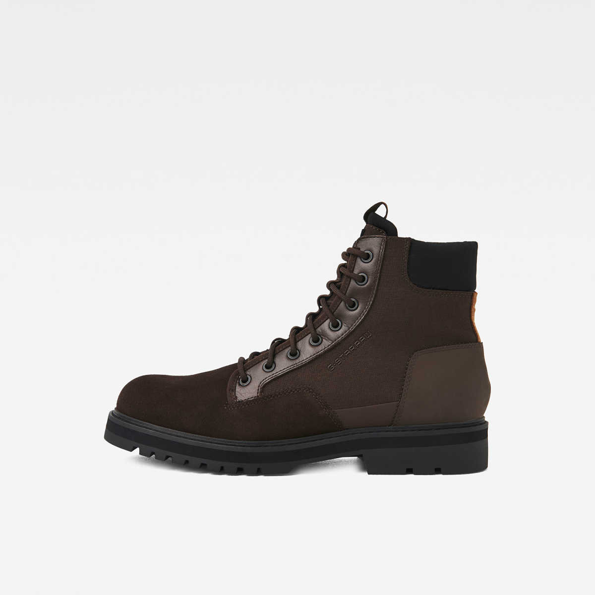G-Star Male Powel Boot Shoes Brown USA - GOOFASH - Mens BOOTS