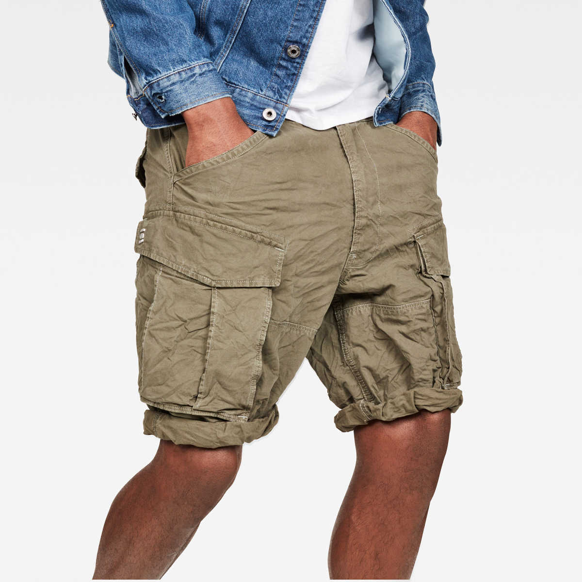 G-Star Male Rovic X-Relaxed Trainer Short Shorts Relaxed Green USA - GOOFASH - Mens SHORTS