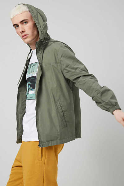 Hooded Zippered Jacket at Forever 21