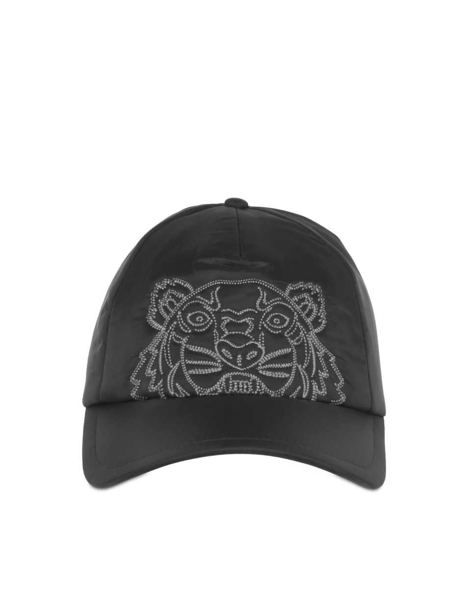 Kenzo  Women's Hats Kampus Nylon Tiger Cap Black USA - GOOFASH - Womens CAPS