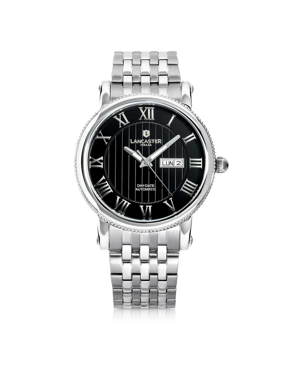 Lancaster  Men's Watches Monarch Automatic Stainless Steel Watch Black USA - GOOFASH - Mens WATCHES