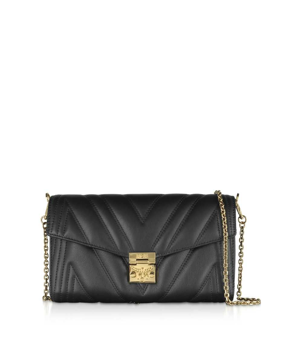 MCM  Handbags Quilted Leather Patricia Shoulder Bag Black USA - GOOFASH - Womens BAGS
