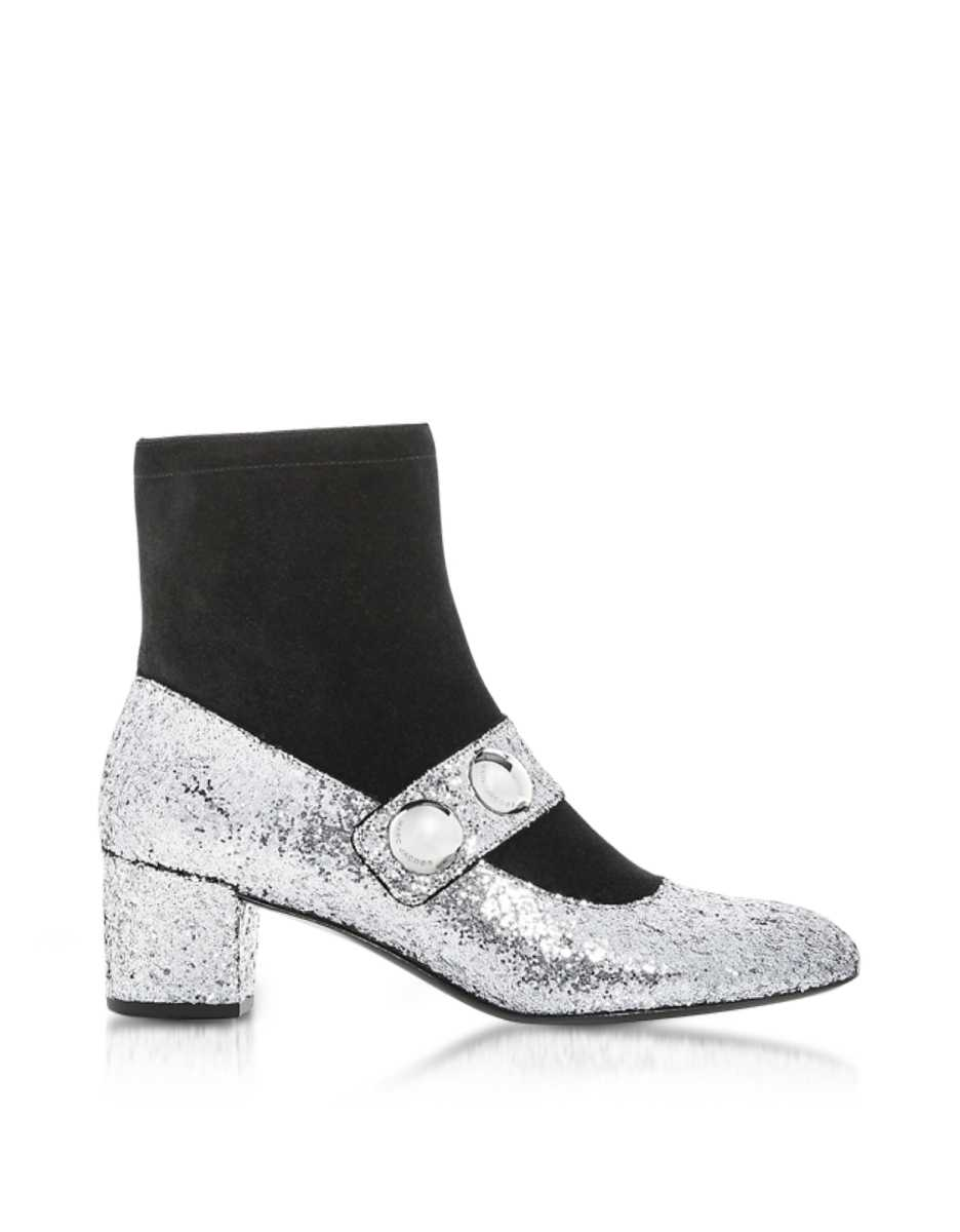 Marc Jacobs  Shoes Margaux Cabochon Ankle Boots Silver USA - GOOFASH - Womens ANKLE BOOTS