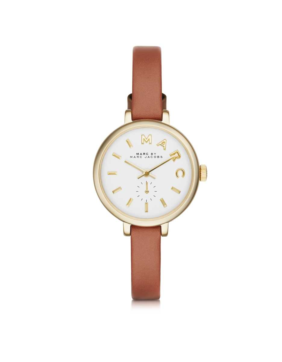 Marc by Marc Jacobs  Women's Watches Sally 28 MM Stainless Steel and Leather Strap Women's Watch Brown