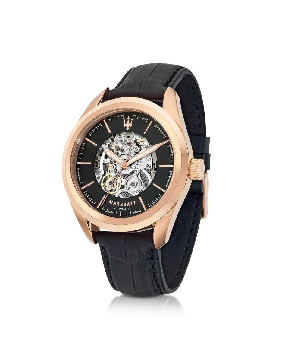 Maserati  Men's Watches Pole Position Automatic Men's Watch Pink USA - GOOFASH - Mens WATCHES