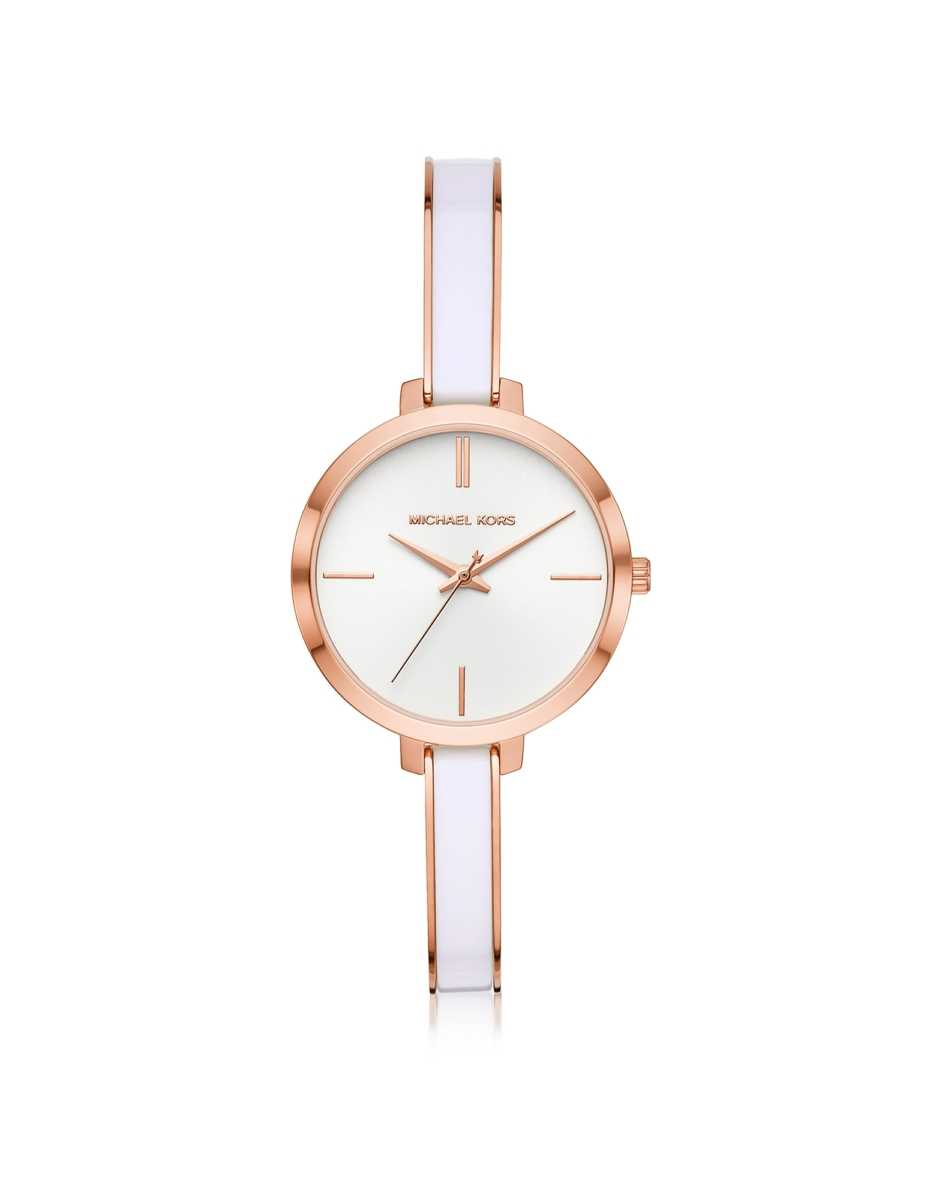 Michael Kors  Women's Watches Jaryn Rose Gold Tone and Blue Acetate Watch Rose Gold USA - GOOFASH - Womens WATCHES