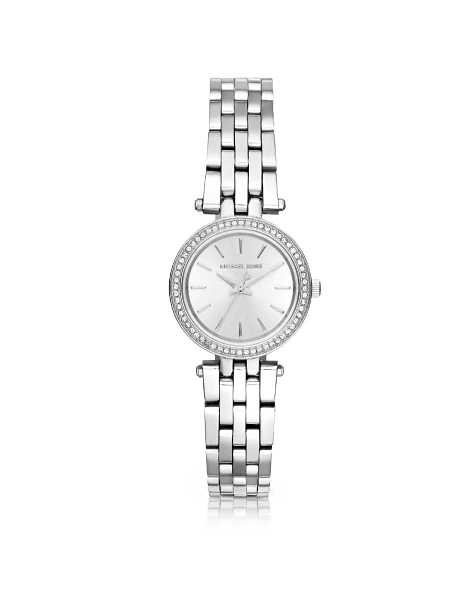 Michael Kors Women's Watches Petite Darci Stainless Steel Women's Watch Silver USA - GOOFASH - Womens T-SHIRTS