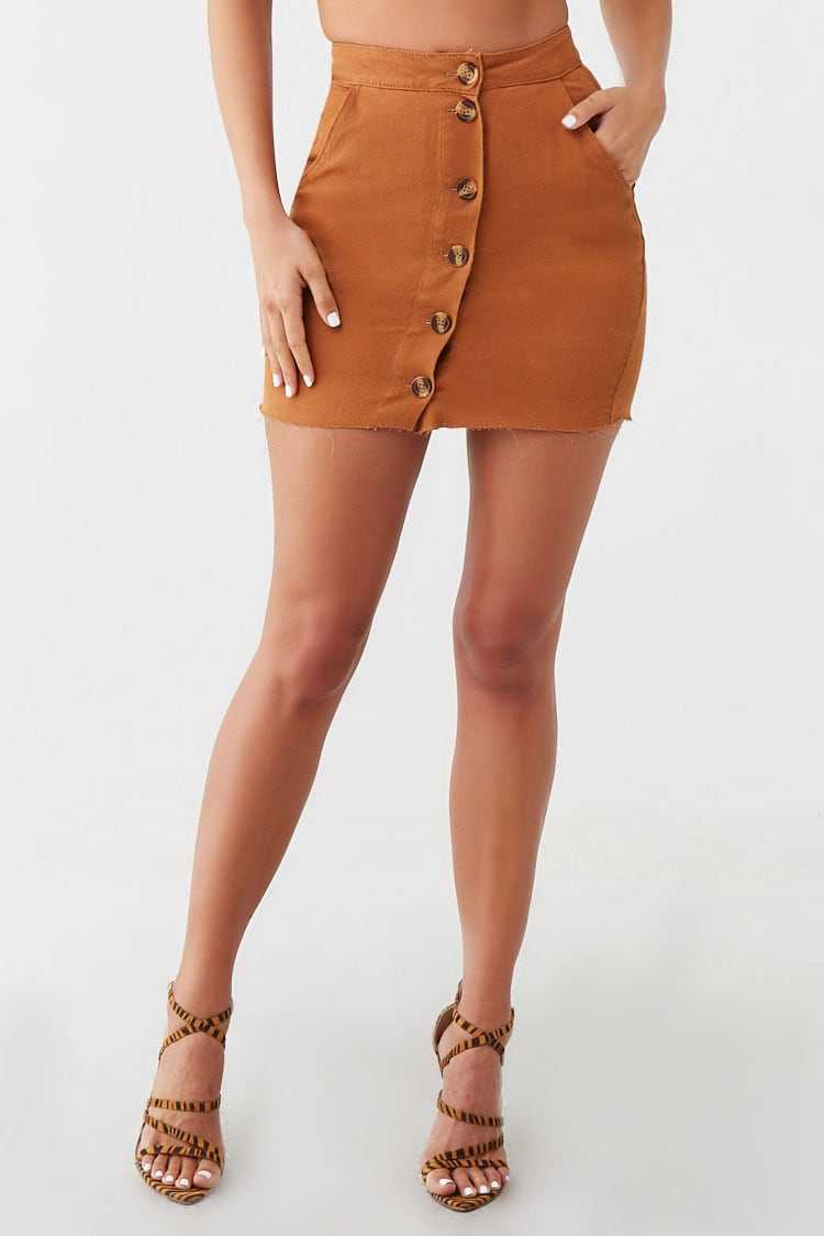 Missguided Denim Button-Front Skirt at Forever 21