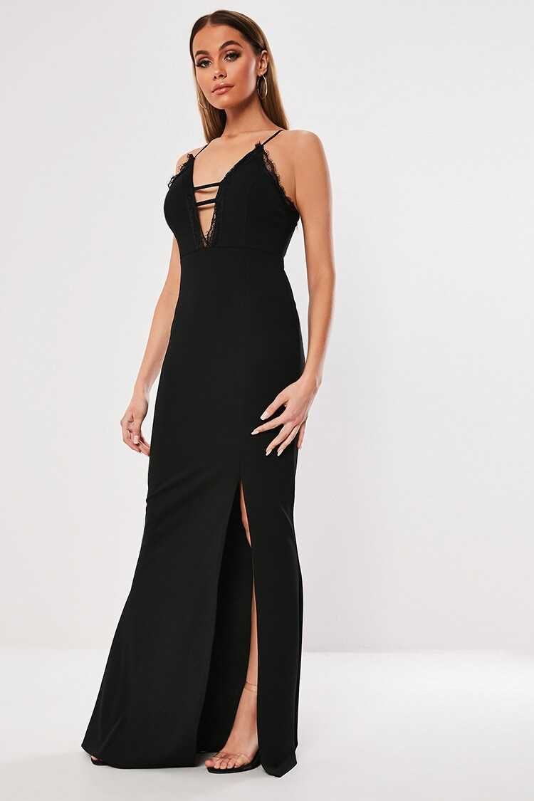 Missguided Lace-Trim Gown at Forever 21